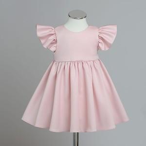 915ba85f1c RADOCHNA pudrowy róż sukienka wizytowa dla dziewczynki