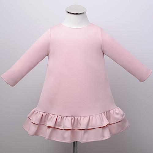 10d78f2deb JULIA pudrowy róż sukienka wizytowa dla dziewczynki Świat sukienek ...
