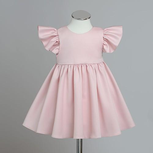 2babb145 RADOCHNA pudrowy róż sukienka wizytowa dla dziewczynki